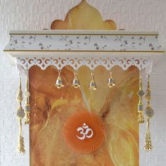 Designer Wooden Mandir Pooja Ghar with Onnex Structure Mandir Design, Pooja Room Design, Interior Design Living Room, Room Interior, Temple Room, Pooja Mandir, Puja Room, Prayer Room, Corian