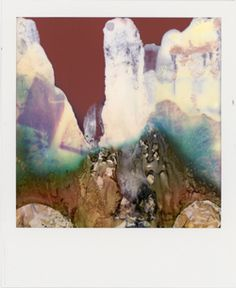 A Broken Polaroid Camera Spits Out Amazing Abstract Art - Photography - Color Abstract Landscape, Abstract Art, Abstract Paintings, Polaroid Pictures, Polaroids, Photo D Art, Art Abstrait, Art Photography, Camera Photography