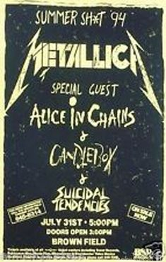 Metallica Made Fun Of Alice In Chains Layne Staley Drug Problem ...