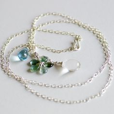 Eden Pendant Necklace  Sterling silver  33 by CherishedBijou, $200.00