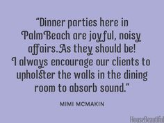 Upholster your walls. housebeautiful.com. #wallcoverings #dining_room