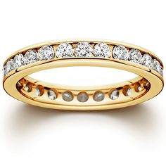 1 12 CT Channel Set Eternity Diamond Ring 14K Yellow Gold *** Be sure to check out this awesome product.(This is an Amazon affiliate link and I receive a commission for the sales)