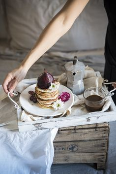 Food Photography & Food Styling - angel food pancake