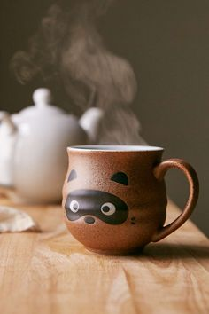 Raccoon Face Mug - Urban Outfitters