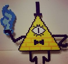 Bill Cipher - Gravity Falls perler beads by saphera-art