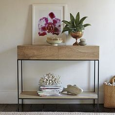 I love the Rustic Storage Console on westelm.com. Love the green color on the alt pic too.