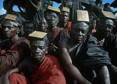 Africa   Tribal Chiefs at the Funeral of Asantehene Prempeh II.  Kumasi, Ghana   ©Ian Berry