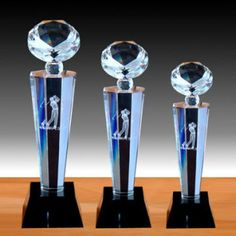 New Arrival Customized Design Popular Crystal Glass Trophy Awards ...