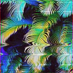 Trippy Palm Trees tropical art tree cool abstract trippy psychedelic palm tree