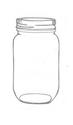 mason jar illustrations | An ink drawing of a mason jar... related to the current project at ...