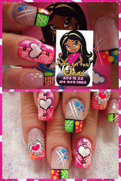 arte en tus uñas Baby Nails, Fun Nails, Pretty Nails, Color Block Nails, Crazy Nail Art, Beauty Brushes, Creative Nails, Manicure And Pedicure, Gel Polish