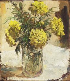 Virtual Art, Bouquet, Art Academy, Container Flowers, Marigold, Crafts To Do, Yellow Flowers, Impressionist, Flower Art