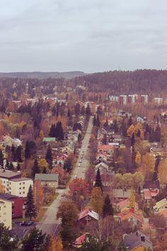 Autumn in Jyväskylä, Finland.