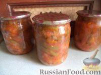 Фото к рецепту: Фасоль стручковая в томате с овощами