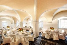 Vltava is a magnificent ballroom, rich in Baroque architecture, and one of the city's finest gathering spaces. Served by its own pre-function room and with space for a reception of 130 people, Vltava is a memorable setting for any event.