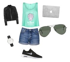 """""""Summer"""" by lifestyle-outfits on Polyvore featuring Wildfox, Topshop, NIKE, Ray-Ban, Rick Owens and Daniel Wellington"""