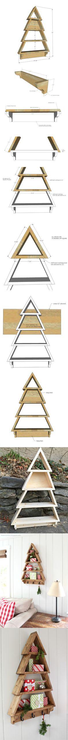 estanteria arbol navidad DIY muy ingenioso 2