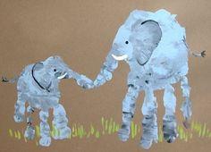 handprint elephant craft
