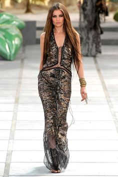Laetitia Casta - Roberto Cavalli Ready-To-Wear Spring/Summer 2010.