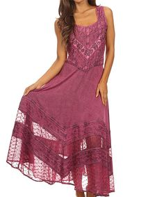 Pink Embroidered Maxi Dress - Plus Too | zulily