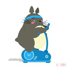 Day 91.  Totoro spins.