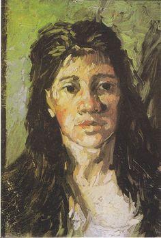 Vincent van Gogh ~ Kopf einer Frau mit offenem Haar, 1885