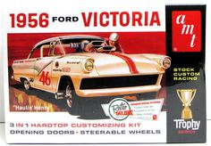 1956 Ford Victoria AMT #807 1/25 New Classic Car Model Kit – Shore Line Hobby