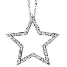 NEW-14k-WHITE-GOLD-SMALL-DIAMOND-STAR-CELESTIAL-PENDANT-NECKLACE-CHARM-SLIDE