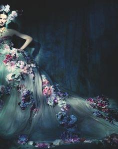 Dolce & Gabbana Alta Moda SS 2014 / Saskia de Brauw photographed by Paolo Roversi for Vogue Italia, May 2014