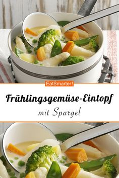 Frühlingsgemüse-Eintopf Try the delicious spring vegetable stew with asparagus from EAT SMARTER! Whole30 Recipes Lunch, Salad Recipes Healthy Lunch, Avocado Salad Recipes, Salad Recipes For Dinner, Mexican Chicken Recipes, Chicken Parmesan Recipes, Chicken Salad Recipes, Ground Beef Recipes Easy, Carne Picada