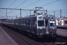 Hitachi train, as originally fitted with a door on the front, in early Melbourne Melbourne Australia, Brisbane, Rail Transport, Melbourne Victoria, Light Rail, Tasmania, Train Station, Western Australia, Locomotive