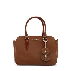 Shop blu byblos brown synthetic leather handbag at Fashiontage. Give your online shopping a new twist with stylish women's bags/holdalls & weekend bags from Fashiontage. Discount Handbags, Handbags Online, Handbags On Sale, Laura Biagiotti, Versace Jeans, Luxury Bags, Luxury Handbags, Satchel Purse, Crossbody Bag