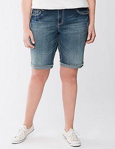 plus size modest bermuda shorts from Bryant Modest Shorts, Seven7, Lane Bryant, Plus Size Outfits, Plus Size Fashion, Bermuda Shorts, Fashion Outfits, Clothes For Women, Denim
