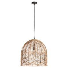 Jute hanglamp met opengewerkte kap. 120 cm hoog. #kwantumstijl #hanglamp