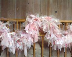 Fabric Garland Tule, Chiffon, Cotton Burlap, Lace, Cotton Rustic Shabby chic Party Decoration 6 foot rag garland