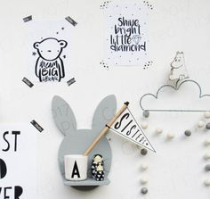 Wooden bunny shelf  scandinavian bunny shelf  hand made pine
