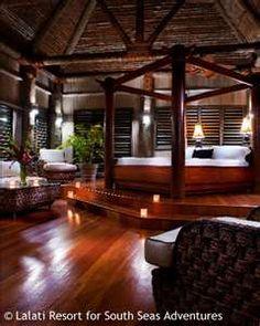 FIJI ISLAND: Nature creates indoors....Outside in!