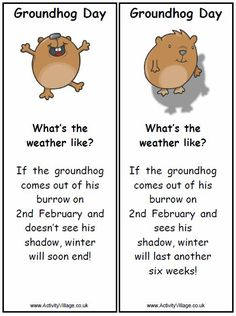 Groundhog Day Printable Love Jimmy the Groundhog here in Sun Prairie! Preschool Groundhog, Groundhog Day Activities, Holiday Activities, Classroom Activities, Classroom Ideas, Happy Groundhog Day, Reggio Classroom, Future Classroom, Toddler Activities