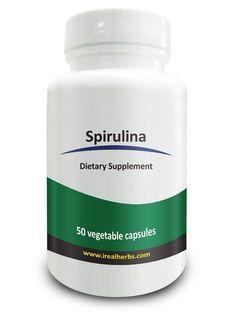 Spirulina Super Foods Real Herbs 750mg 50 veggie capsules Heart Brain Health New #RealHerbs