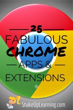 20+ Fabulous Chrome Apps and Extensions: As many of you may know, I am a confessed Chrome addict! I even have a presentation to prove it: Confessions of a Chrome Addict. I have started adding my Google resources to this website as a new section. Watch for this section to grow soon!