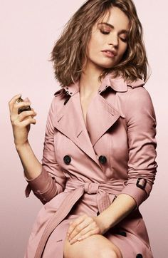 LILY JAMES Becomes The Face of NEW Burberry Fragrance