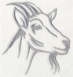 Machine Embroidery Designs at Embroidery Library! Goat Picture, Goat Logo, Goat Art, Embroidered Towels, Illustrations, Rock Crafts, Painting Patterns, Pictures To Draw, String Art