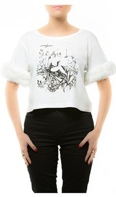 ARCTIC WHITE Fluffy Tee Arctic, T Shirts For Women, Tees, Designers, Blue, Fashion Design, Shopping, Clothes, Beauty
