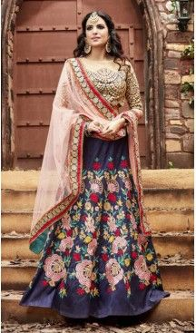 Circular Style Silk Designer Lehenga Choli in Navy Blue Color | FH518378763 #heenastyle, #designer, #lehengas, #choli, #collection, #women, #online, #wedding , #Bollywood, #stylish, #indian, #party, #ghagra, #casual, #sangeet, #mehendi, #navratri, #fashion, #boutique, #mode, #henna, #wedding, #fashion-week, #ceremony, #receptions, #ring , #dupatta , #chunni , @heenastyle , #Circular , #engagement