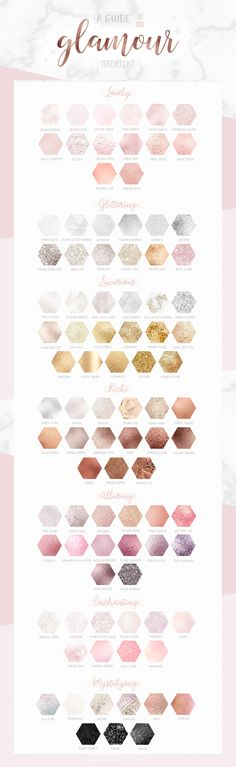 Glitter, marble, rose gold, blush, silver and gold textures for graphic design, logo, branding and blogging. Tips, ideas and inspiration. Make the Glamour Textures Kit yours at Creative Market.