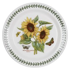 Portmeirion Botanic Garden Sunflower dinner plate #Portmeirion