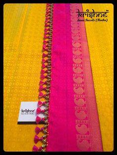 Best Tassel Kuchu From Krishne™ Saree Tassels Designs, Saree Kuchu Designs, Saree Blouse Neck Designs, Bridal Blouse Designs, Saree Brooch, Diy Lace Ribbon Flowers, Maggam Work Designs, Saree Dress, Indie