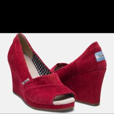 Toms wedges red i have those,,,,,,,,, just not in heel form