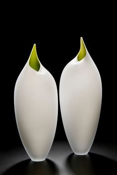 Bruce Marks - 'The Birds' series is inspired by sculptor Constantin Brancusi. In these blown glass pieces, Bruce has stripped the form back to its bare essentials leaving us with the essence of a bird.