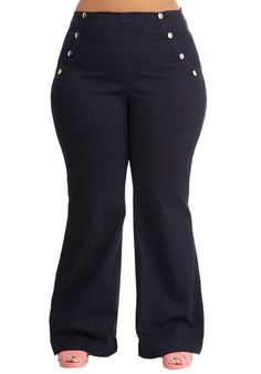 Sailorette the Seas Jeans in Dark Wash - Plus Size, @ModCloth